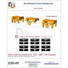 Six wheeled coach axleguards 4mm scale