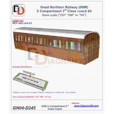 GNR 5 compartment third class coach body kit (D245)