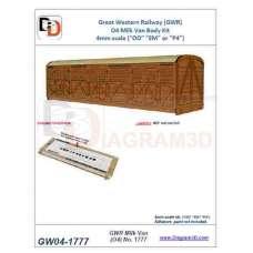 GWR Siphon O4-1777 body kit