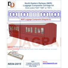 NER Luggage composite carriage (Diagram 9)