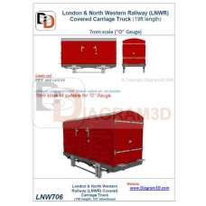 LNWR Covered Carriage Truck