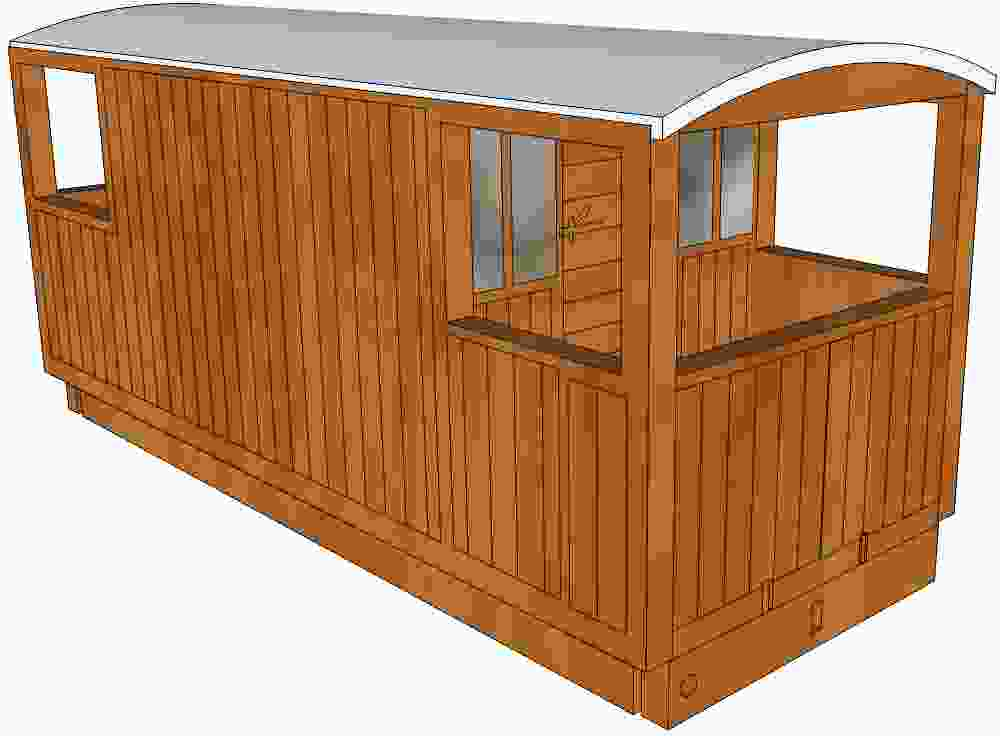 GNR brake van (vertical planks)
